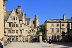 Universität von Oxford in England Stockbild