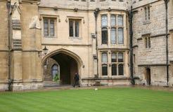 Universität von Oxford, mittelalterliche Hochschule stockbild