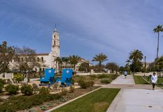 Universität von San Diego Campus lizenzfreie stockbilder