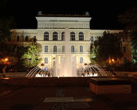 Universität von Szeged nachts Stockfotos