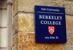 Universität von Yales-Zeichen Stockfotografie