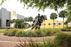 Universität von zentralen Floridas Aufladungsritter Statue Lizenzfreies Stockfoto