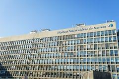 Universitätskrankenhaus von Genf Stockbild