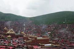 Université bouddhiste dans Sichuan, Chine photos libres de droits