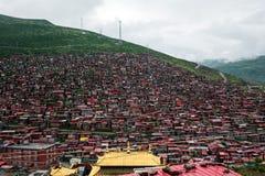 Université bouddhiste dans Sichuan, Chine image libre de droits