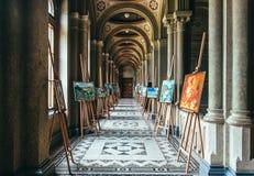 Université, Chernivtsi Couloir arqué antique Patrimoine mondial de l'UNESCO images libres de droits