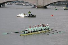 université d'équipe de Cambridge de bateau Photos stock