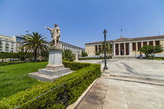 Université d'Athènes, Grèce photographie stock