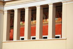 Université d'Athènes - la construction principale (Grèce) Photographie stock