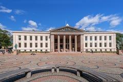 Université d'Oslo au jour d'été Photographie stock