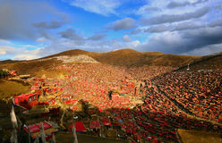 Université de bouddhisme de Seda Larong Wuming Image stock