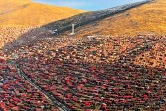 Université de bouddhisme de Seda Larong Wuming Image libre de droits