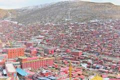 Université de bouddhisme de Seda Larong Wuming Photographie stock libre de droits