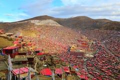 Université de bouddhisme de Seda Larong Wuming Images libres de droits