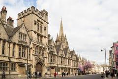 Université de Brasenose, grand-rue d'Oxford Photo stock