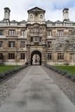 Université de Cambridge d'entrée d'université de Clare photos libres de droits