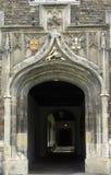 Université de Cambridge, université de Jésus, entrée t Image stock
