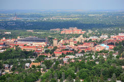 Université de campus du Colorado Boulder sur Sunny Day Images libres de droits