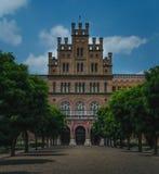 Université de Chernivtsi en Ukraine - résidence de Bukovinian et de métropolitaine dalmatienne, héritage de l'UNESCO image libre de droits