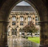 Université de cour intérieure de Glasgow Photographie stock libre de droits