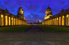 Université de Greenwich la nuit Images stock