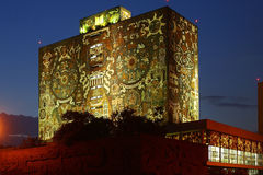 université de national du Mexique de bibliothèque Image libre de droits