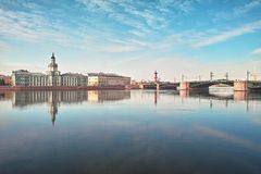 université de saint de quai de Pétersbourg Photo libre de droits
