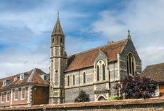 Université de Sarum et cathédrale étroites, Salisbury, Angleterre Photographie stock libre de droits