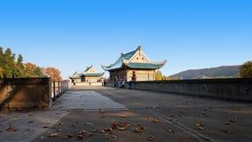 Université de Wuhan photos stock