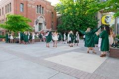 Université des diplômés d'université de l'Orégon sur le campus Photographie stock