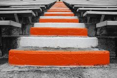 Université des escaliers de terrain de football de Tennessee photos stock