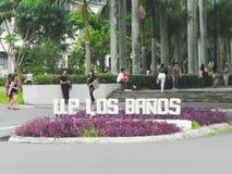 Université des Philippines, visibilité directe Baños, Laguna images stock