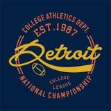 Université Detroit sportif Image stock