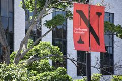 Université du nord-est à Boston, le Massachusetts photos libres de droits