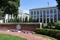 Université du nord-est à Boston, le Massachusetts photos stock