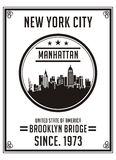 Université New York City Manhattan, image de vecteur Photographie stock libre de droits