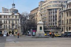 Université Piata Universitatii carrée Photographie stock libre de droits