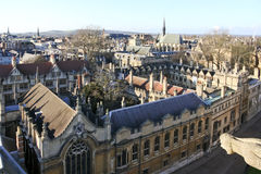 Université R-U de Brasenose de grand-rue d'Oxford Image stock