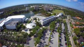 Université visuelle aérienne de l'agrafe 4 de Miami 4k banque de vidéos