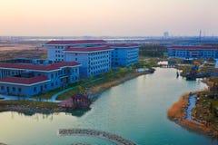 Universités de ville de Daqing pour former le bâtiment de dortoir gestionnaire de personnel Images libres de droits