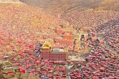 Université de bouddhisme de Seda Larong Wuming Photographie stock