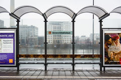 Universitaetsklinikum火车法兰克福几何的德国 免版税库存照片