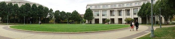 Universitair Bibliotheekpanorama Stock Foto
