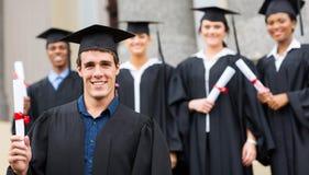 Universitair gediplomeerd diploma royalty-vrije stock afbeelding