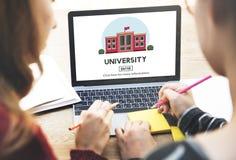 Universitair het Onderwijsconcept van de Universiteits Academisch Studie Stock Afbeeldingen