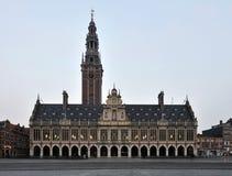 Universitaire Bibliotheek van Leuven Stock Afbeelding