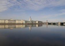 Universitaire Dijk. St. - Petersburg Royalty-vrije Stock Foto's