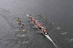 Universitaire het Roeien van Michigan rassen in het Hoofd van het Kampioenschap Eights van Charles Regatta Women royalty-vrije stock foto's