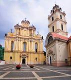 Universitaire Kerk, Vilnius Stock Afbeeldingen
