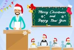Universitaire Professor Lecture New Year Kerstmis Royalty-vrije Stock Foto's